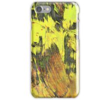 Paint, Yellow (Texture, Background) iPhone Case/Skin