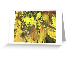 Paint, Yellow (Texture, Background) Greeting Card