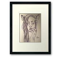 Fawn Child Framed Print