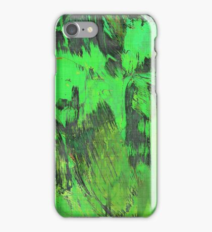 Paint, Green (Texture, Background) iPhone Case/Skin