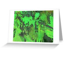 Paint, Green (Texture, Background) Greeting Card