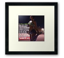 I Will Beat Her (She Is The Old Me) Framed Print