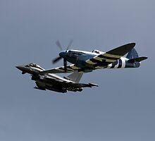 Modern fighter and Old flighter  by danielkennedy93