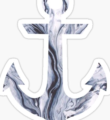 anchor - gray swirl Sticker
