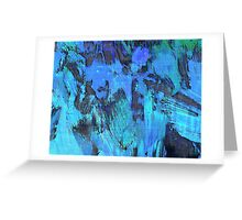 Paint, Blue (Texture, Background) Greeting Card