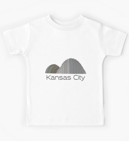 Hand Drawn Kansas City Kauffman Performing Arts Center Kids Tee