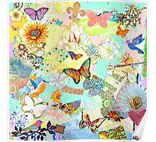 Birds, Butterflies, and Flowers Poster