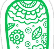 zentangle i: green  Sticker