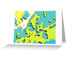 Graphic, Cut Out, Green (Wallpaper, Background) Greeting Card