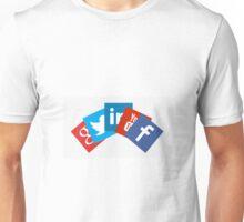Cool social media symbols  Unisex T-Shirt