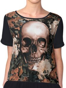Floral and Skull II Chiffon Top