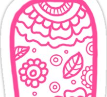 zentangle i: pink  Sticker