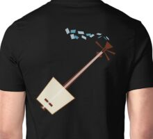 While My Shamisen Gently Weeps (blue) Unisex T-Shirt