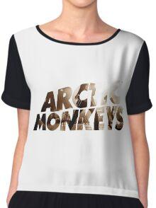 ARCTIC MONKEYS Logo Live Alex Turner Chiffon Top