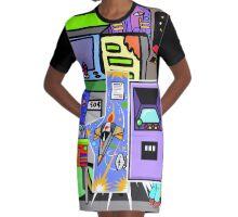 Arcade Graphic T-Shirt Dress