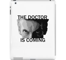 Dr Who - The Doctor is Coming iPad Case/Skin