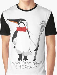 Bowtie Penguin Lacrosse Graphic T-Shirt