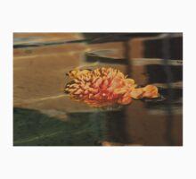 Jewel Drops - Orange Chrysanthemum Bloom Floating in a Fountain Kids Tee