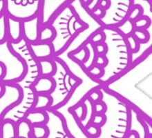 zentangle k: lavender  Sticker