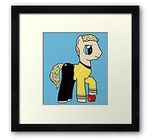 James T Kirk - Pony of the Starship Enterprise Framed Print