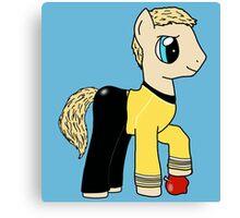James T Kirk - Pony of the Starship Enterprise Canvas Print
