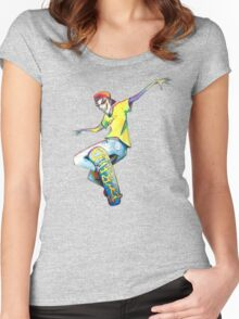Shred SKATE Women's Fitted Scoop T-Shirt