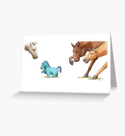 The Dressage Pony Greeting Card
