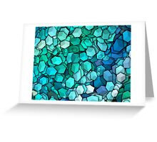 Graphic Boxes, Light Blue (Wallpaper, Background) Greeting Card