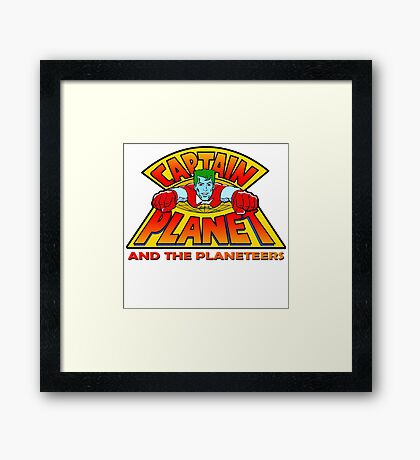 CAPTAIN PLANET AND THE PLANETEERS RETRO CLASSIC CARTOON  Framed Print