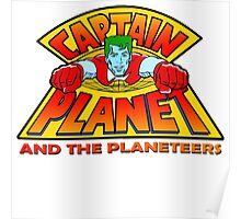 CAPTAIN PLANET AND THE PLANETEERS RETRO CLASSIC CARTOON  Poster