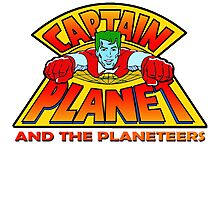 CAPTAIN PLANET AND THE PLANETEERS RETRO CLASSIC CARTOON  Photographic Print