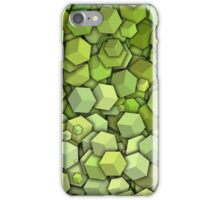 Graphic Boxes, Green (Wallpaper, Background) iPhone Case/Skin
