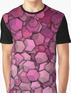 Graphic Boxes, Pink (Wallpaper, Background) Graphic T-Shirt