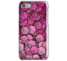 Graphic Boxes, Pink (Wallpaper, Background) iPhone Case/Skin