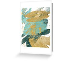 Emerald green abstract brush painting Greeting Card