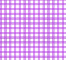 Checkered Gingham Pattern - Purple White  by sitnica