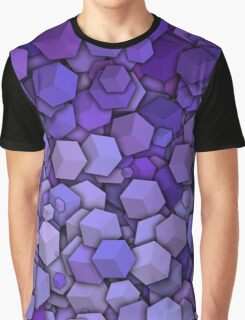 Graphic Boxes, Violet (Wallpaper, Background) Graphic T-Shirt
