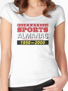 Biff's Almanac - Back to the Future Women's Fitted Scoop T-Shirt