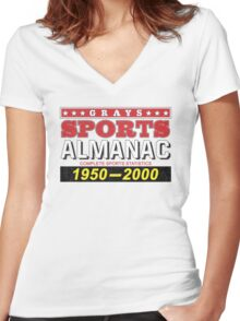 Biff's Almanac - Back to the Future Women's Fitted V-Neck T-Shirt