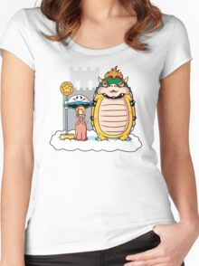 My Neighbor Bowser Women's Fitted Scoop T-Shirt