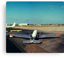 DC-3 at Love Field Dallas 1962 Canvas Print