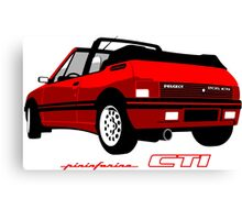 Peugeot 205 CTI cabriolet red Canvas Print