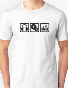 DJ Equalizer headphones vinyl T-Shirt