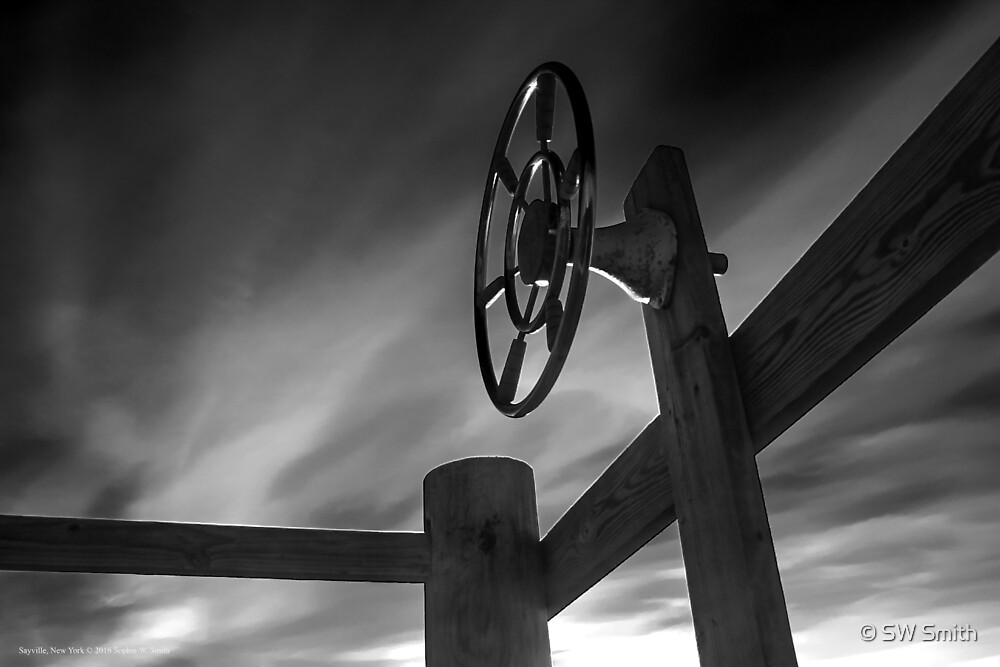 Ship's wheel | Sayville, New York by © Sophie W. Smith