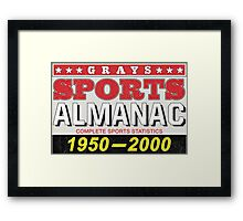 Biff's Almanac - Back to the Future Framed Print