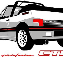 Peugeot 205 CTI cabriolet white by car2oonz