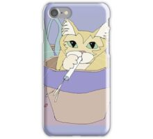 Cat And Spitball iPhone Case/Skin