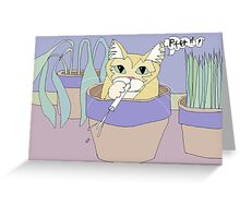 Cat And Spitball Greeting Card