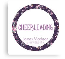 JMU Cheerleading Canvas Print