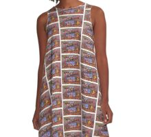 Tucson Arizona Postcard A-Line Dress